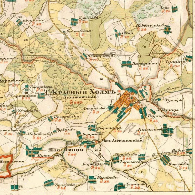 Старинные топографиЧеские карты губерний.